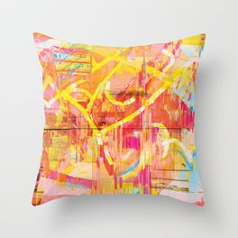 Writing on The Wall 02 Throw Pillow