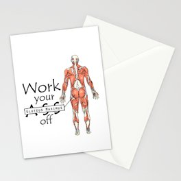 Work your Gluteus Maximus off Stationery Cards