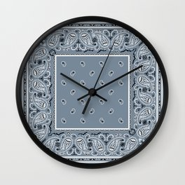 Slate Blue Bandana Wall Clock