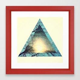 future sunset Framed Art Print
