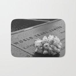 White Roses at the WTC Memorial Bath Mat