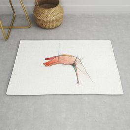 The Left, abstract hand art, NYC artist Rug