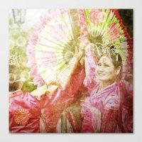 korean Canvas Prints featuring korean smile by FarbCafé