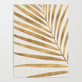 Metallic Gold Palm Leaf Poster