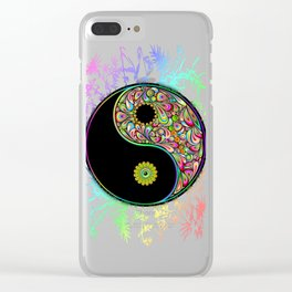 Yin Yang Bamboo Psychedelic Clear iPhone Case