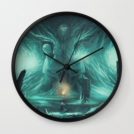 The Temple of Kahli Wall Clock