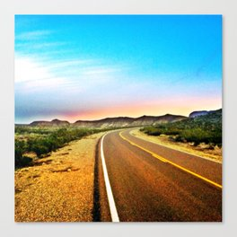 Open Road in Big Bend Canvas Print
