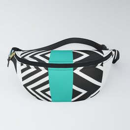 geometric in blue Fanny Pack