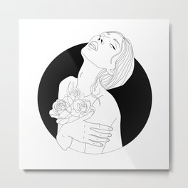 flowers are in her soul Metal Print