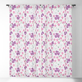 Pink Chicks on a Gray Background Blackout Curtain