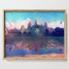 Hazy Reflection Angkor Wat Serving Tray
