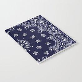 Paisley - Bandana - Navy Blue - Southwestern - Cowboy Notebook