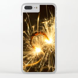 'Up in Smoke' (Sparks No.1) Clear iPhone Case