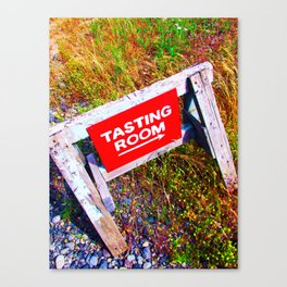 Tasting Room Sign At Ani Che Cellars Canvas Print