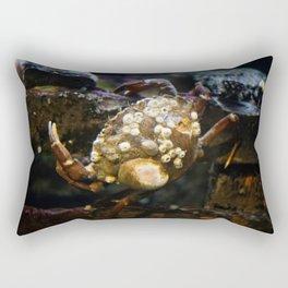 Crab on a Crate Rectangular Pillow