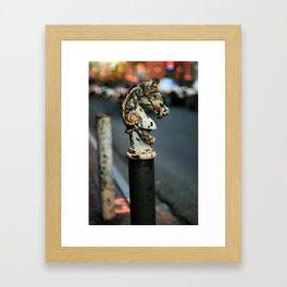 New Orleans Hitching Post #1 Framed Art Print