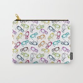 Hipster Glasses Carry-All Pouch