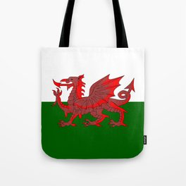 Welsh Red Dragon Flag Tote Bag