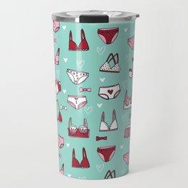 undies hand drawn andrea lauren pattern underwear lingerie Travel Mug