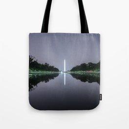 Washington Memorial from the Lincoln Memorial No. 1 Tote Bag
