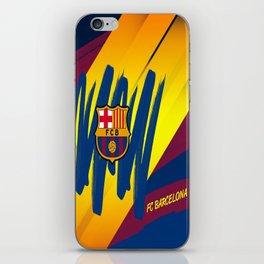 F C Barcelona : Mes Que Un Club , Visca forza Barca iPhone Skin