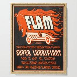 Plakat flam super lubrifiant  diable Serving Tray