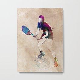 Tennis player sport art #tennis #sport Metal Print
