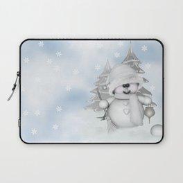 White Snowman Laptop Sleeve