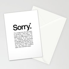 Sorry.* For a limited time only. (White) Stationery Cards