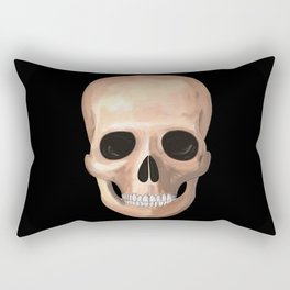 Smiling Skull Rectangular Pillow