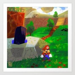 Childhood favorite - Super Mario 64 Art Print