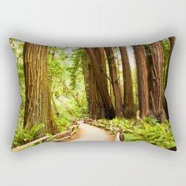 Path in Muir Woods Rectangular Pillow