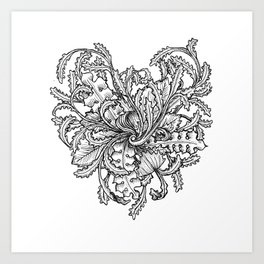 Blooming heart Art Print