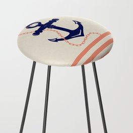 AFE Navy Anchor and Chain Counter Stool