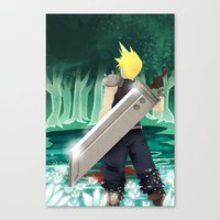 final fantasy Canvas Prints featuring Final Fantasy by LynxArtCollection