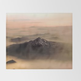 The West is Burning - Mt Shasta - nature photography Throw Blanket