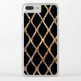 Rusty Corrugated Mesh Clear iPhone Case