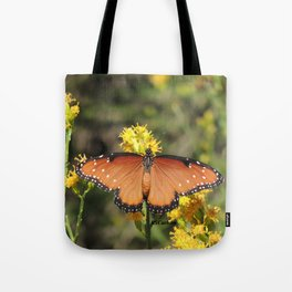 Queen Butterfly on Rubber Rabbitbrush in Claremont CA Tote Bag