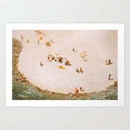 Tiny Beach Party Art Print
