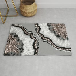 Yin Yang Agate Glitter Glam #9 #gem #decor #art #society6 Rug
