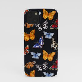 Butterflies On Black iPhone Case