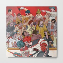 Hockey Parents Metal Print