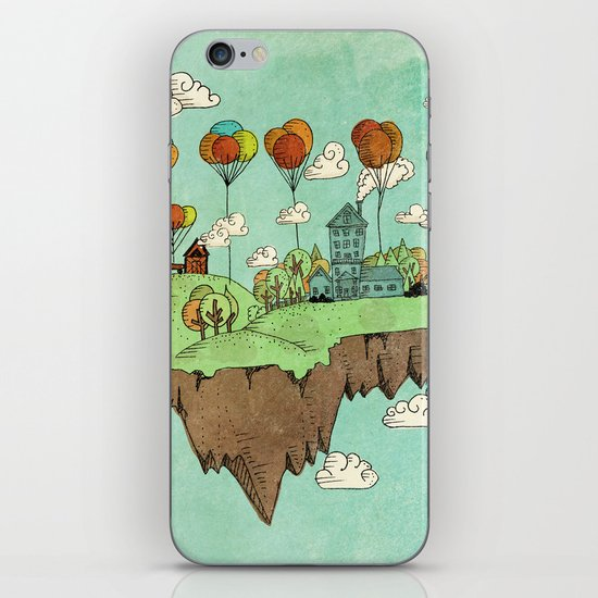 The Floating Farm iPhone & iPod Skin