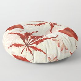 Red Japanese Maple Leaf Floor Pillow