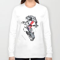 beethoven Long Sleeve T-shirts featuring Bowie Beethoven by Komrod