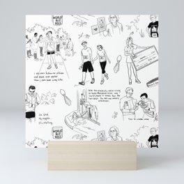 Fun Run with Text Mini Art Print