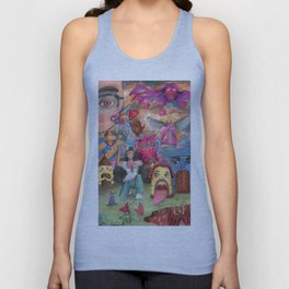 Rpg Party! House, Angel, Balloons, Mage, Warrior and etc Unisex Tank Top