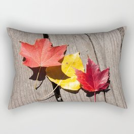 Three Leaves Photography Print Rectangular Pillow