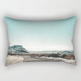 Desert Sunlight Snowfield // Vintage Nature Winter Scenery in Mojave Las Vegas Landscape Photograph Rectangular Pillow