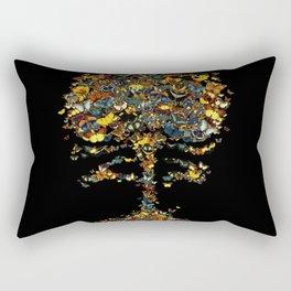 Atomic Butterfly Rectangular Pillow